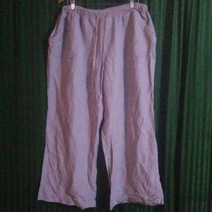 Ashley Stewart women's gray wide leg palazzo pants